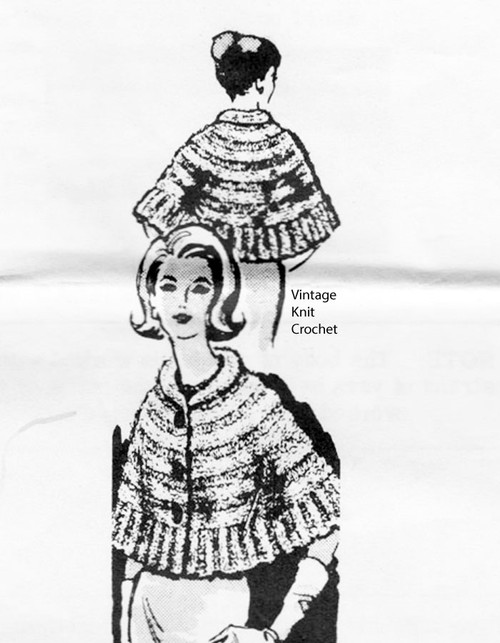 Knitted Capelet Pattern with ruffle, Laura Wheeler 902