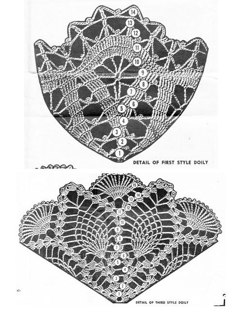 Crochet Doily Pattern Illustration, Design 7384