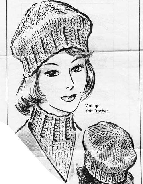 Cap and Dickey Knitting Pattern No 5843
