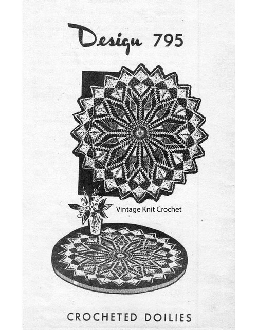 Large Sun Crochet Doily Pattern