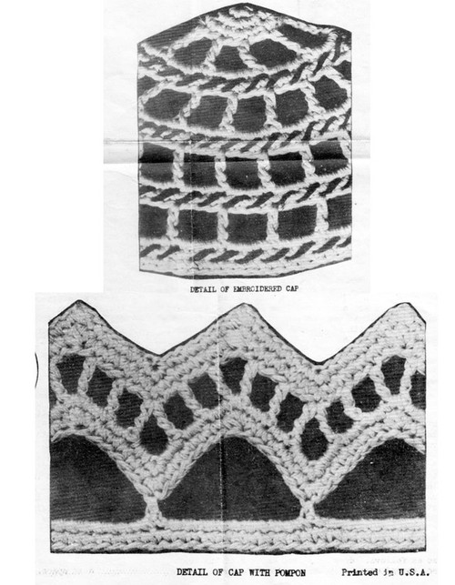 Crochet Caps Pattern, 2 Styles, Laura Wheeler 1746