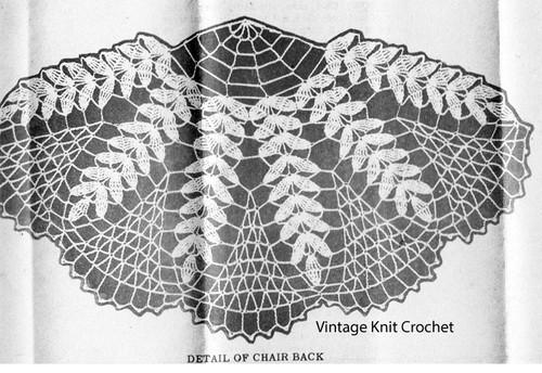 Fern Chair Back Crochet Illustration for Laura wheeler 764