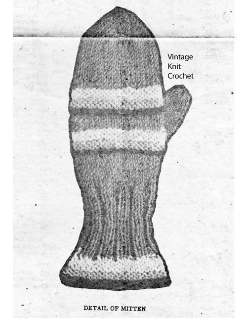 Kids knitted mitten pattern illustration, Laura Wheeler 579