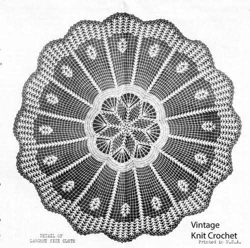 Vintage Crochet Cloth Pattern Illustration, Laura Wheeler 2312
