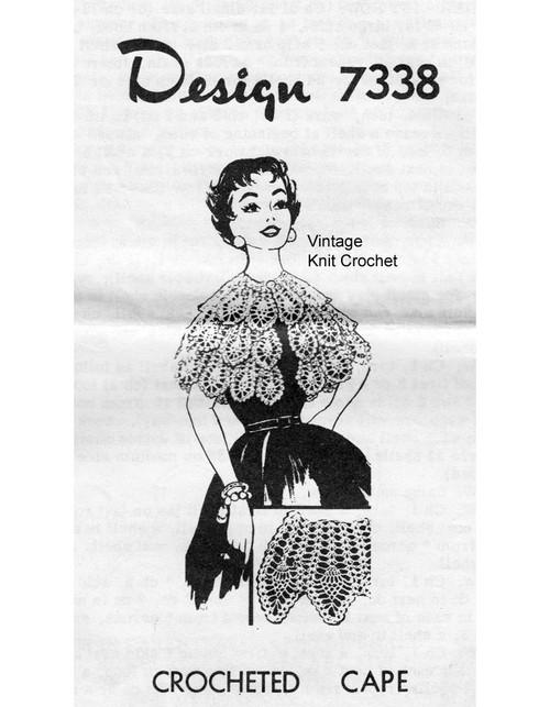 Pineapple capelet crochet pattern Design 7338