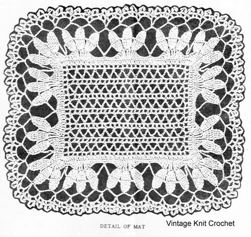 Crochet Leaf Mats Pattern Illustration, Design 891