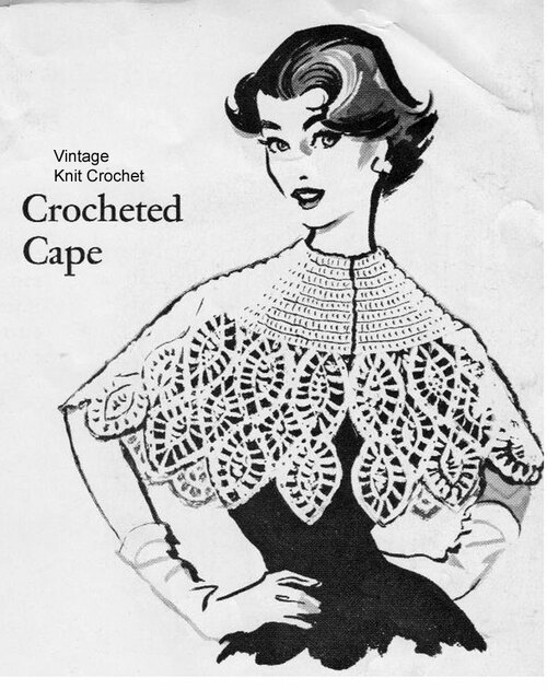 Free Capelet Crochet Pattern, Anne Cabot Download
