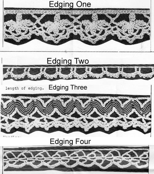 Crochet Edgings Pattern Illustration, Anne Cabot 5363