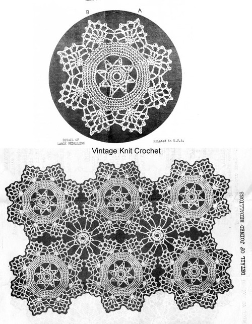 Medallion tablecloth illustration for Design 1940