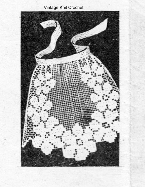 Design 712, Filet Crochet apron pattern