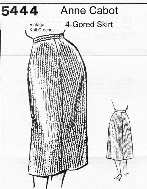 Easy Crochet Straight Skirt Pattern, Anne Cabot 5444