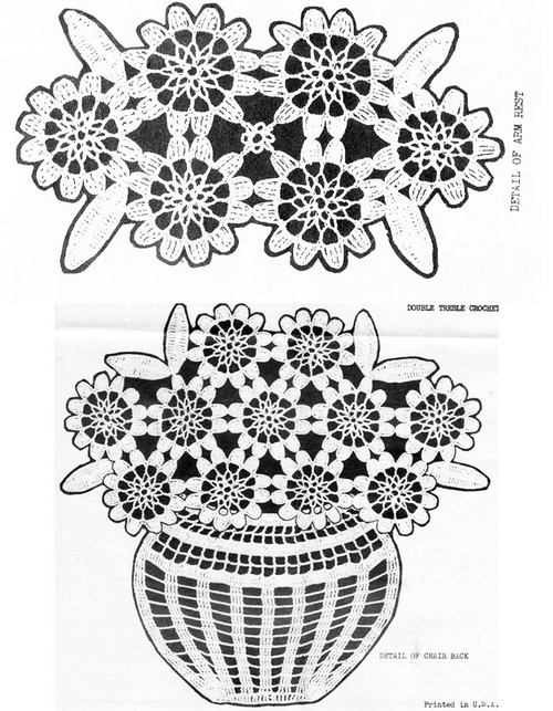 Flower Crochet Medallions in bowl pattern