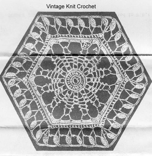 Crochet Hexagon Medallion Illustration Alice Brooks 7246