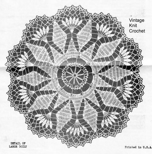 Large Sun Crochet Doily Pattern, Design 6413
