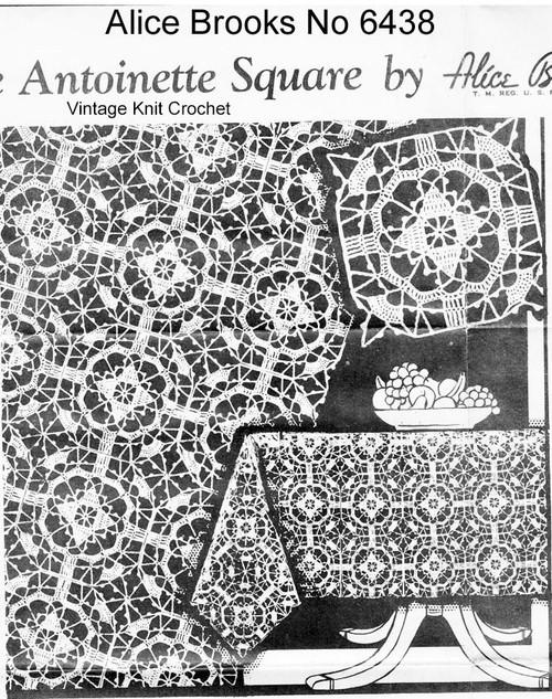 Marie Antoinette Crochet Tablecloth Pattern, Alice Brooks 6438