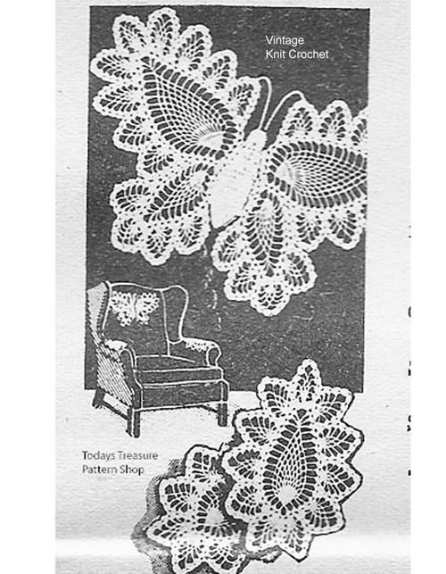 Vintage Crochet Butterfly Pattern, Alice Brooks 7106