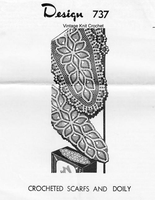 Crochet Pineapple Runner Pattern, Laura Wheeler 737