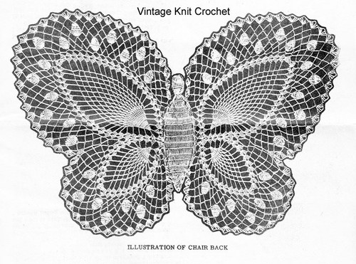 Crochet Butterfly Pattern Illustration No 3097