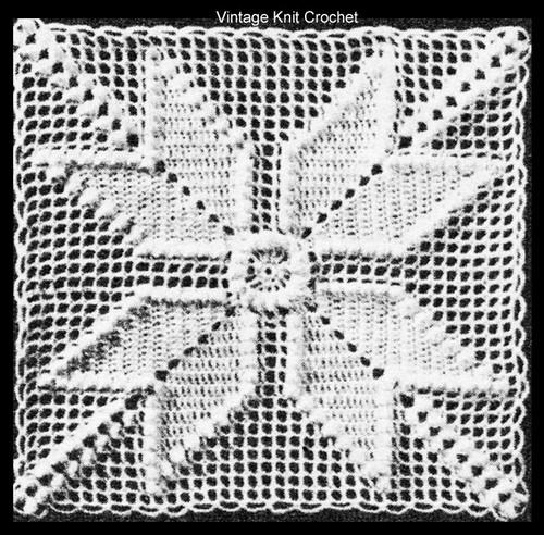 Star Crocheted Square Pattern Illustration