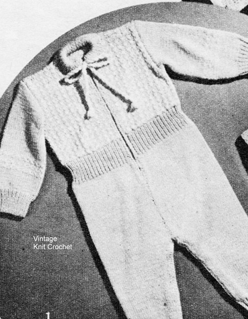 Knitted Baby Snowsuit Pattern