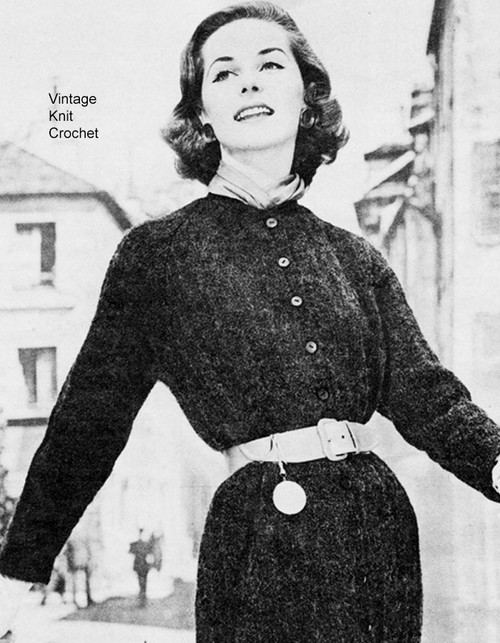 Vintage knitted Shirt Dress Pattern