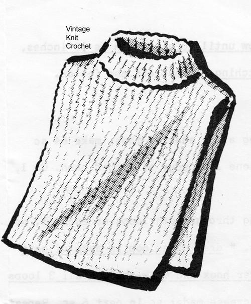Easy crochet Dickey Pattern No 5652