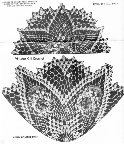 Flower Crochet Doily Pattern Stitch Illustration for Design 587