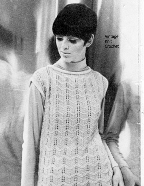 Knitted Tunic Pattern, Chevron Stripe