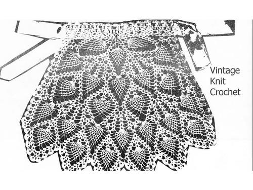 Crochet Pineapple Apron pattern detail, Mail Order E-241