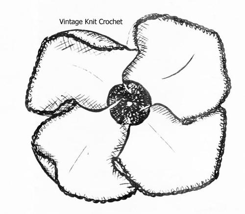 Crochet Sunflower Potholder Illustration, Anne Cabot 5395