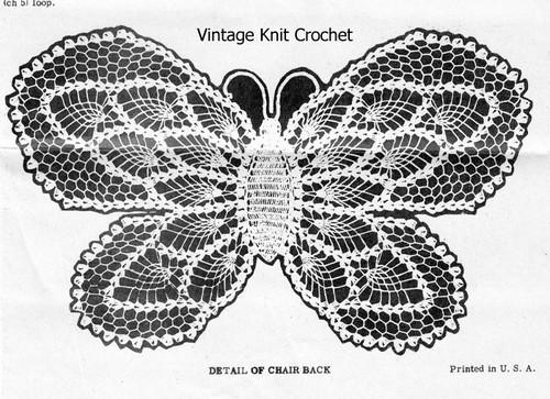 Crochet Butterfly Pattern Illustration for Design 7126