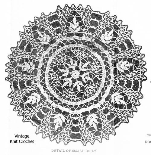 Laura Wheeler Fern Doily Crochet Pattern Illustration No 801