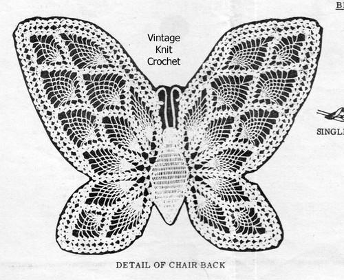 Butterfly Crochet Pattern Stitch Illustration, Laura Wheeler 771