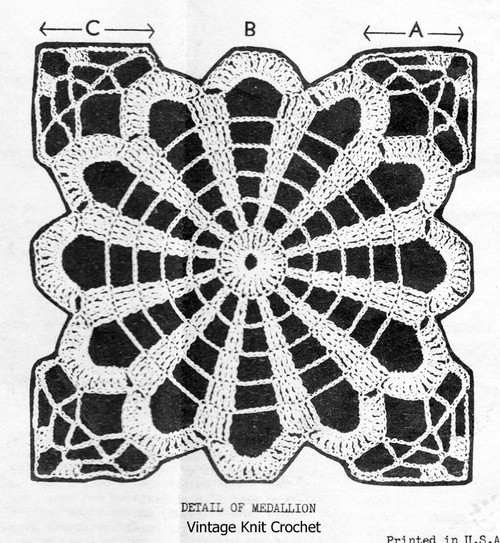 Wild Aster Crocheted Flower Medallion Pattern