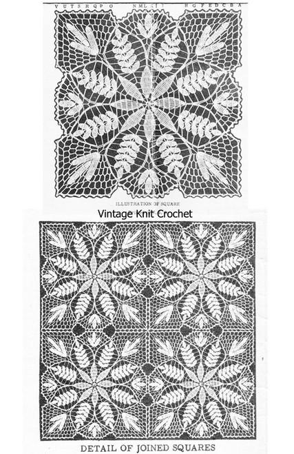 Fern Crochet Pattern Illustration for Laura Wheeler 679