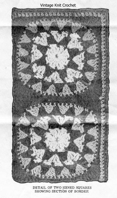 Easy Crochet Afghan Square, Mail Order Design 7073