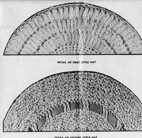 Crochet Sailor Hat Pattern Illustration, Design 7400