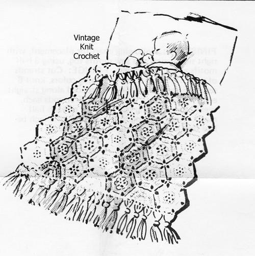 Easy Medallion Crochet Baby Blanket Pattern, Anne Cabot 5845