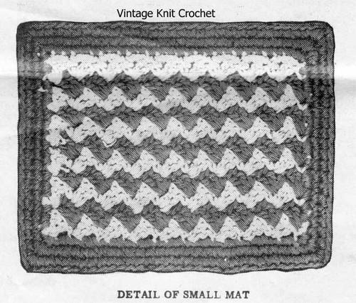 Plaid Hot Plate Mats Pattern, Alice Brooks 7094