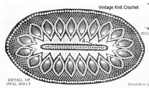 Oval Pineapple Doily Scarf Crochet Pattern No 7124