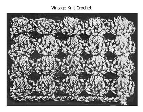 Shell Stitch Crochet Pattern Stitch Illustration