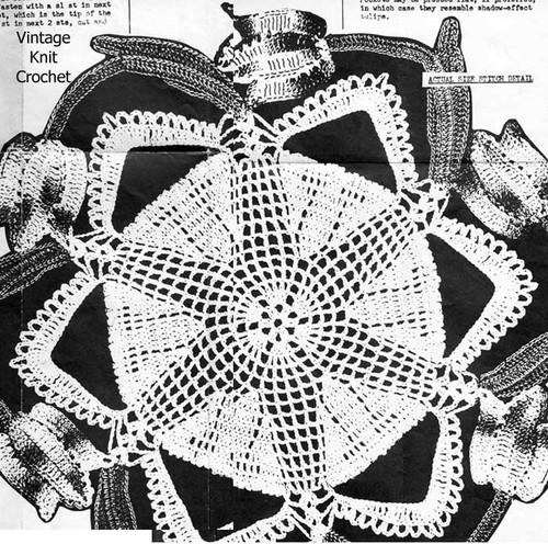 Windswept Crochet Tulip Doily, Mail Order 2072