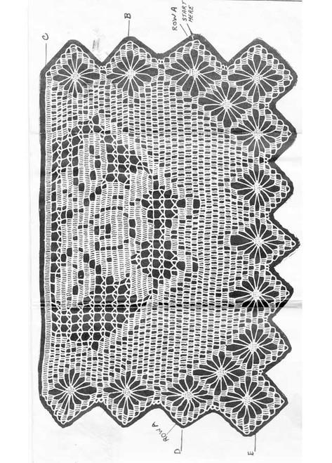 Crochet Spiderweb Chair Doily Illustration
