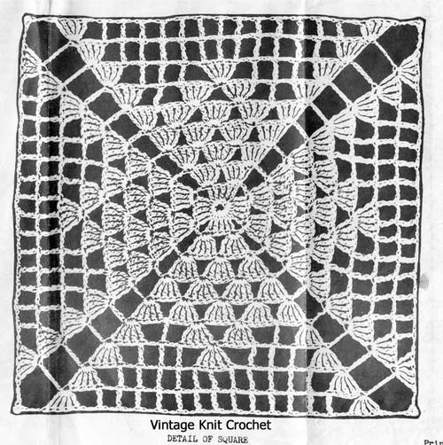 Colonial Square Crochet Illustration, Design 2361