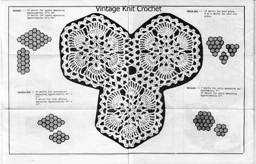 Easy Star Crocheted Medallions Pattern No 2252