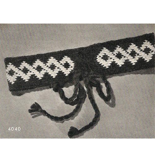 Crochet Belt Pattern with Diamond Motif