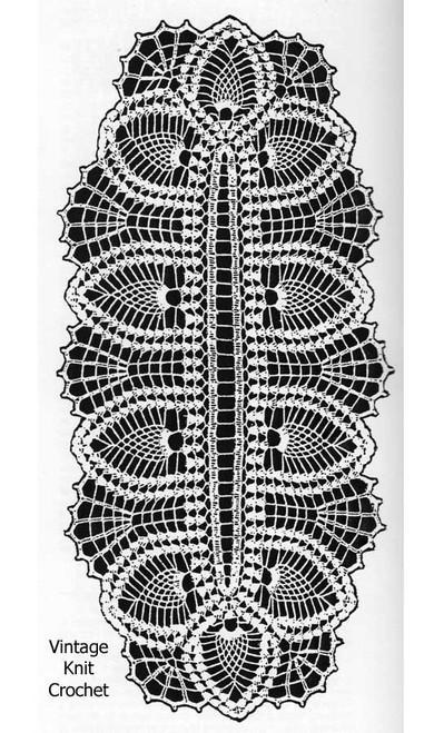 Pineapple Runner Crochet pattern Illustration, Laura Wheeler 2418