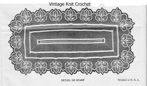 Long Pineapple Runner Crochet Pattern Illustration No 7038