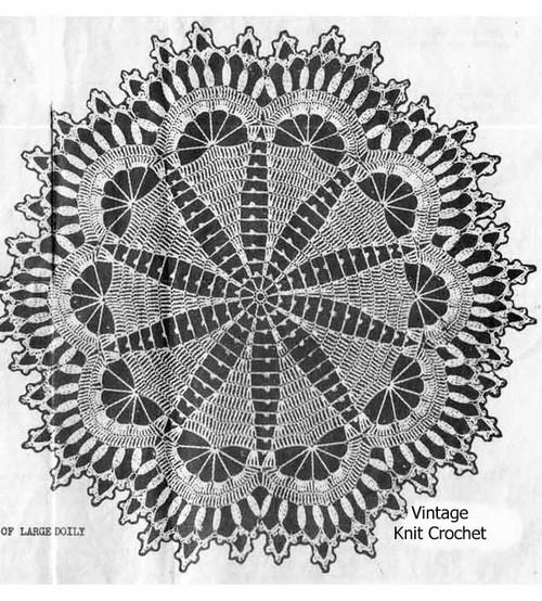 Crochet Centerpiece Doily Pattern Illustration, Alice Brooks 6941