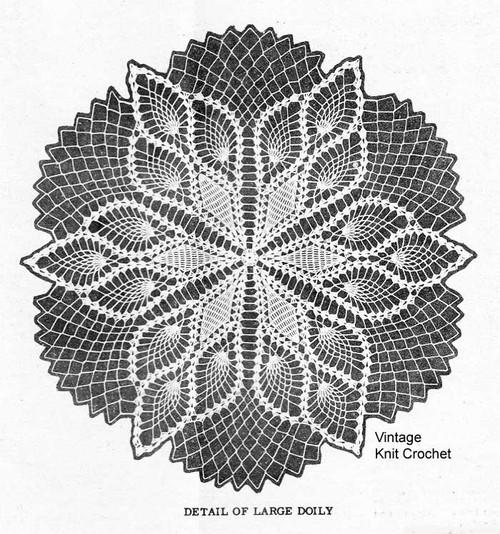 Star Pineapple Doily Crochet Pattern Illustration for Design 7431